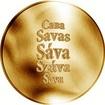 Česká jména - Sáva - zlatá medaile