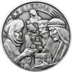 Tři králové 25 mm stříbro patina