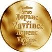 Česká jména - Vavřinec - zlatá medaile