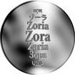 Česká jména - Zora - stříbrná medaile