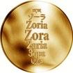 Česká jména - Zora - zlatá medaile