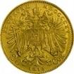 Zlatá mince Dvacetikoruna Františka Josefa I. 1915 (novoražba)