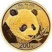 Zlatá mince Panda 15 gramů 2018