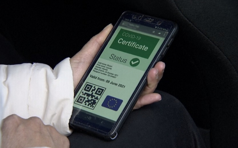 EU COVID pas - digitální certifikát EU COVID