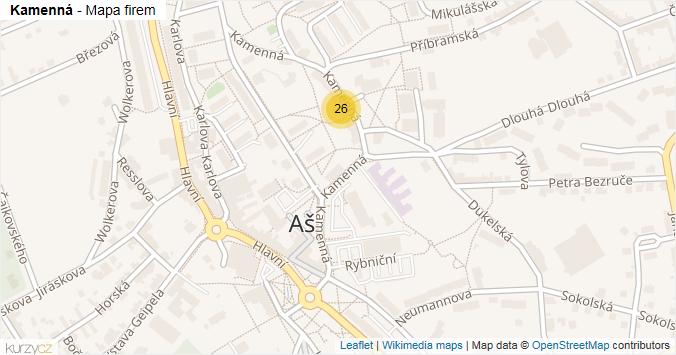 Mapa Kamenná - Firmy v ulici.