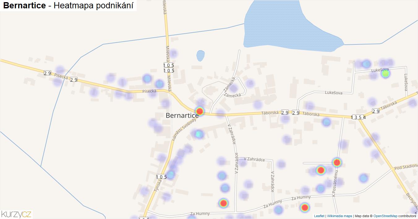 Bernartice - mapa podnikání