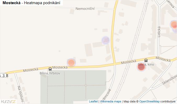 Mapa Mostecká - Firmy v ulici.