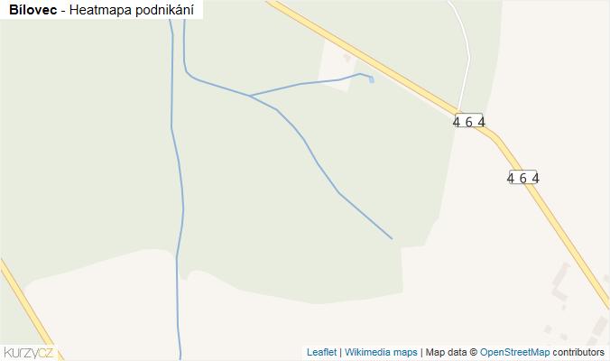 Mapa Bílovec - Firmy v obci.