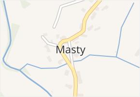 Masty v obci Bílý Újezd - mapa části obce