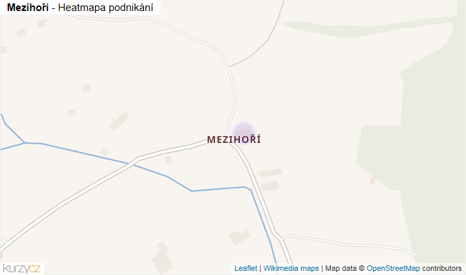 Mapa Mezihoří - Firmy v části obce.