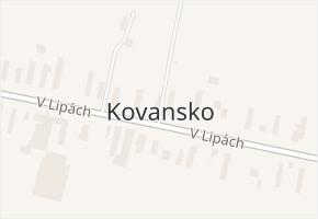 Kovansko v obci Bobnice - mapa části obce