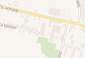 Čs. armády v obci Bohumín - mapa ulice