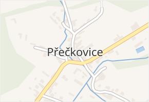 Přečkovice v obci Bojkovice - mapa části obce