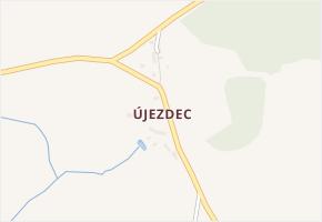 Újezdec v obci Bolešiny - mapa části obce