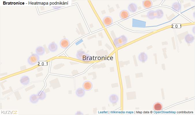 Mapa Bratronice - Firmy v části obce.