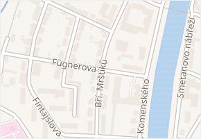 Fügnerova v obci Břeclav - mapa ulice