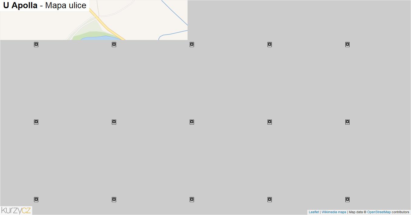U Apolla - mapa ulice
