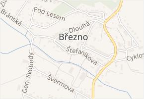 Štefanikova v obci Březno - mapa ulice