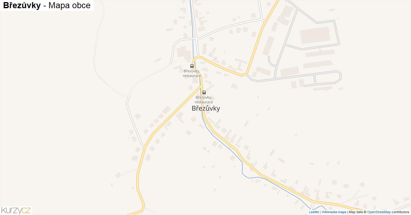 Březůvky - mapa obce