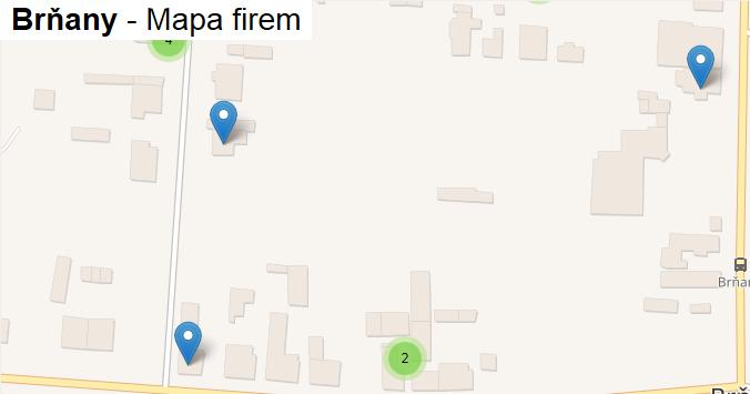 Brňany - mapa firem