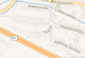 Brno-Starý Lískovec v obci Brno - mapa městské části