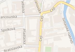 Cejl v obci Brno - mapa ulice