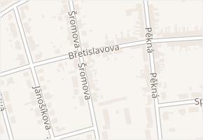 Chrlice v obci Brno - mapa části obce