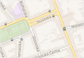 Husitská v obci Brno - mapa ulice