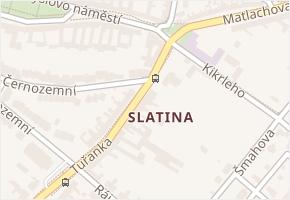 Slatina v obci Brno - mapa části obce
