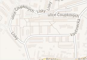 ulice Čoupkových v obci Brno - mapa ulice