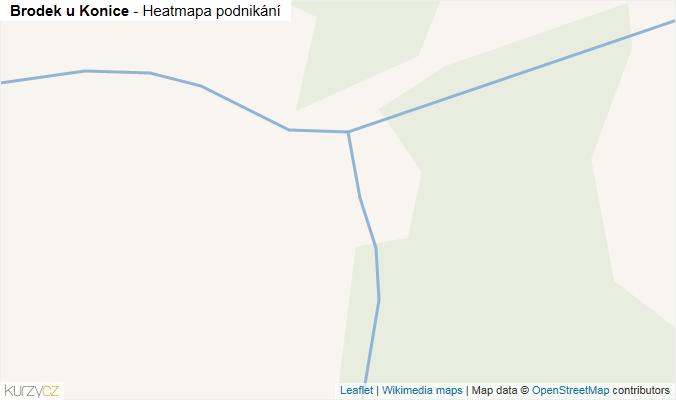 Mapa Brodek u Konice - Firmy v obci.