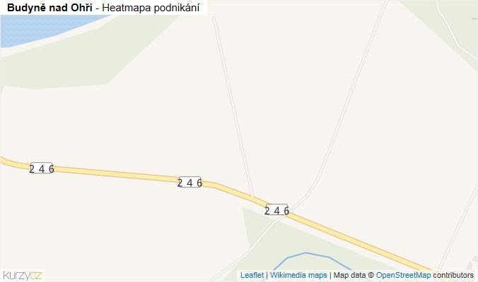 Mapa Budyně nad Ohří - Firmy v obci.