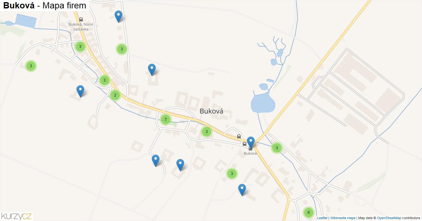 Buková - mapa firem