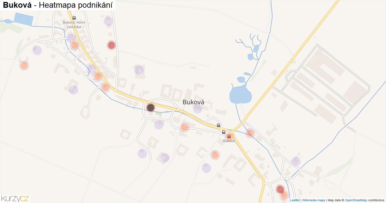 Buková - mapa podnikání