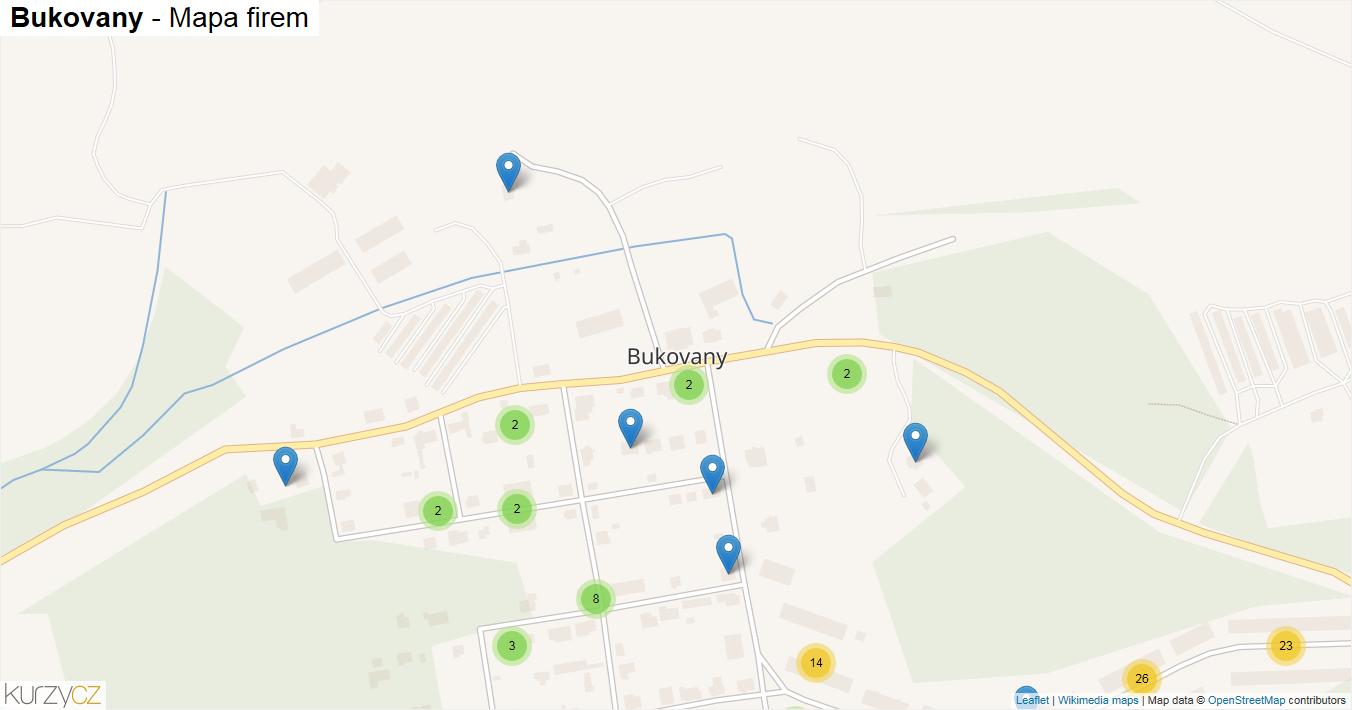 Bukovany - mapa firem