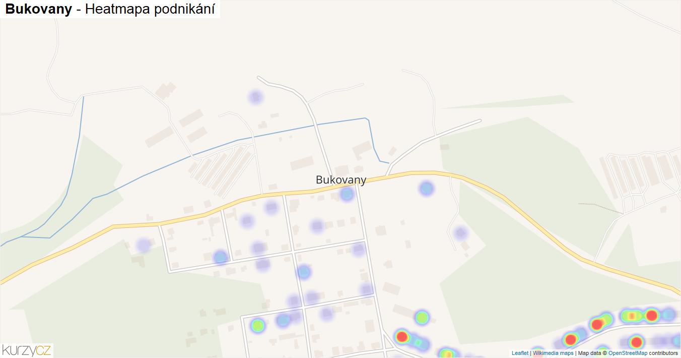 Bukovany - mapa podnikání