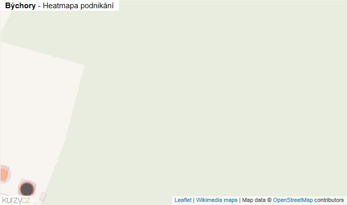 Mapa Býchory - Firmy v obci.