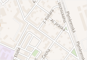 Boženy Němcové v obci Čáslav - mapa ulice