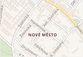 Čáslav-Nové Město v obci Čáslav - mapa části obce