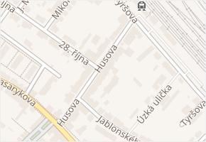 Husova v obci Čáslav - mapa ulice