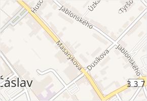 Masarykova v obci Čáslav - mapa ulice