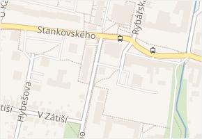 J. A. Komenského v obci Čelákovice - mapa ulice