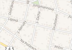 Lipová v obci Čelákovice - mapa ulice