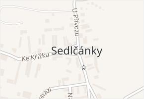 Sedlčánky v obci Čelákovice - mapa části obce