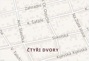 K. Šafáře v obci České Budějovice - mapa ulice