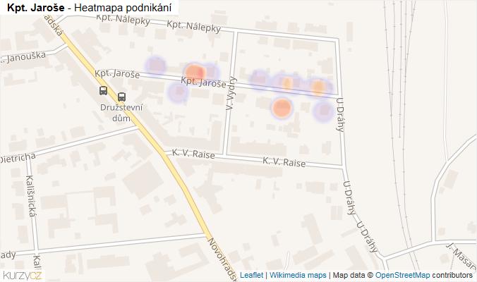 Mapa Kpt. Jaroše - Firmy v ulici.