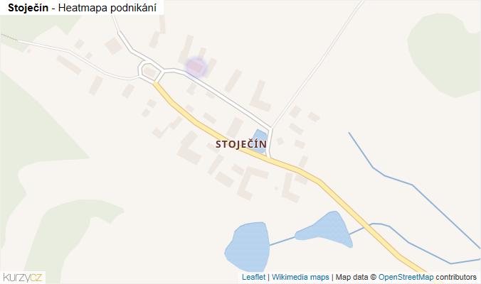 Mapa Stoječín - Firmy v části obce.