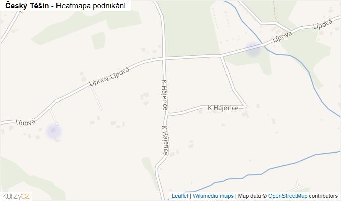 Mapa Český Těšín - Firmy v obci.