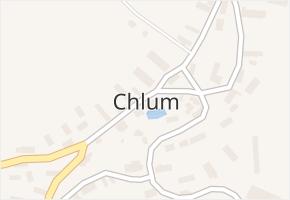 Chlum v obci Chlum - mapa části obce