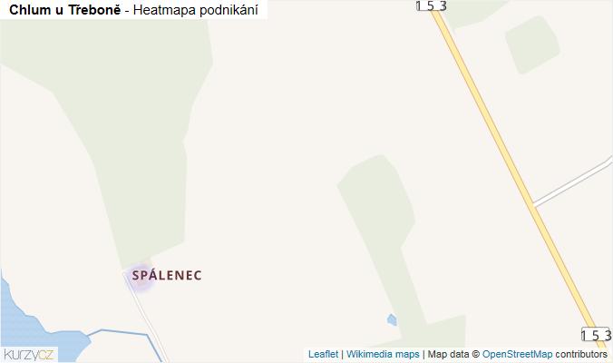 Mapa Chlum u Třeboně - Firmy v obci.